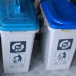 Small bins for recycling