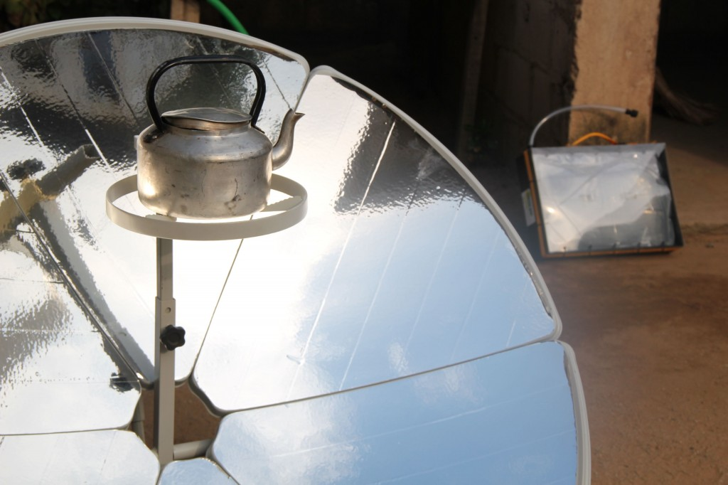 Solar cooker front