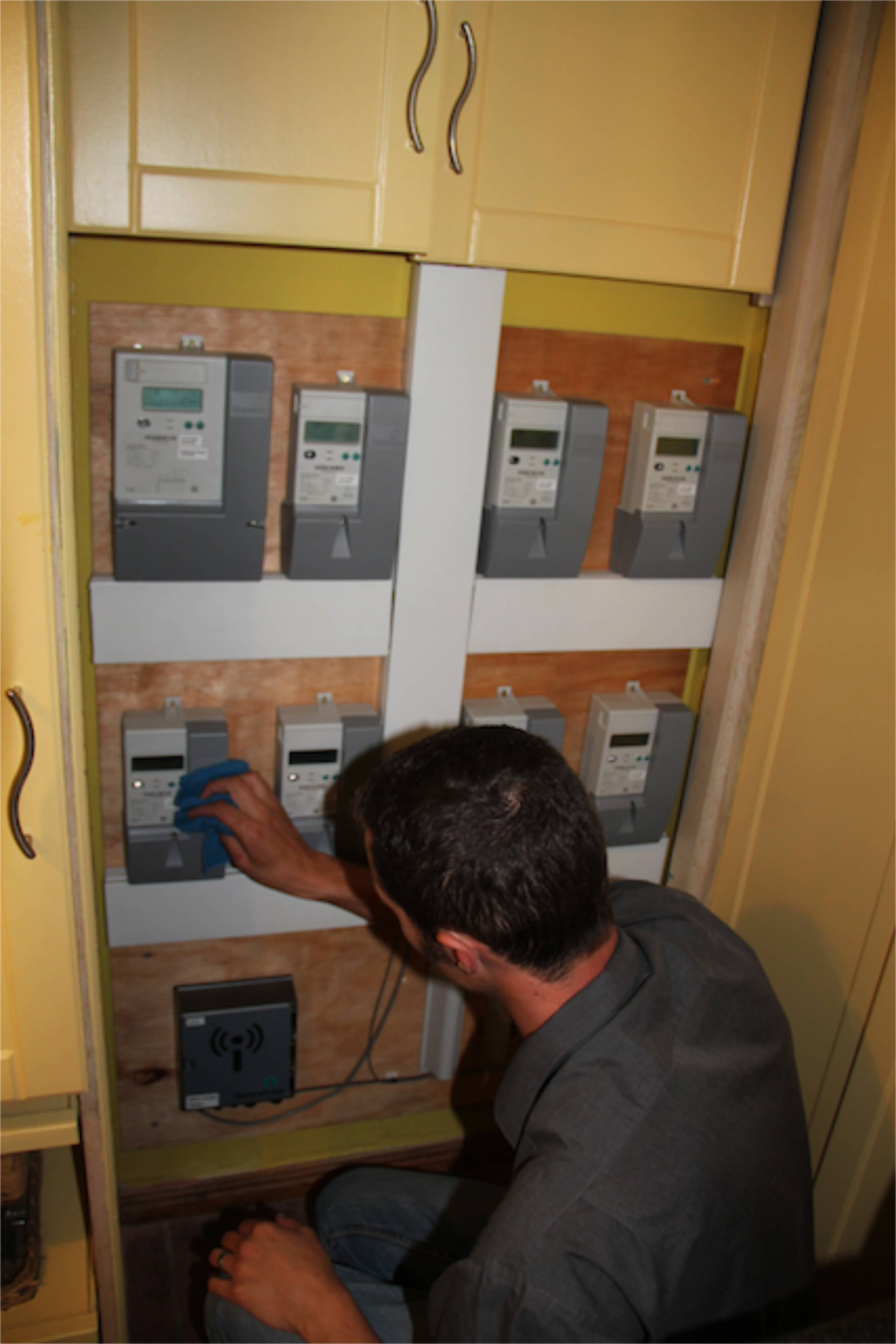 Installation of eight different meters for live energy monitoring.